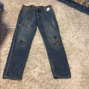 NWT$ Gapkids 1969 NYC Girlfriend Jeans mid rise